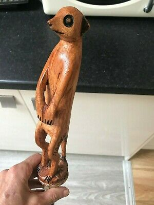 bamboo wooden walking stick handle is wood