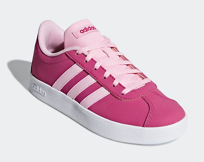 NEW Girls adidas Kids VL Court 2.0 K Sneakers Shoes Pink Magenta F36382