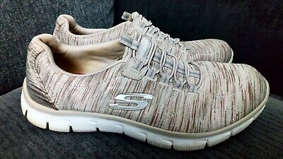 SKECHERS Memory Foam Trainers Air-Cooled *MARY JANES* UK7 Fkex-Sole 2 Colours