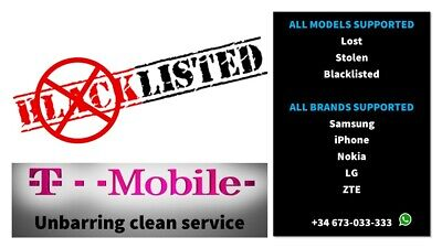 Premium T-Mobile Unbarring Clean  Service. All Models Supported