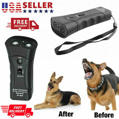 Anti Dog Barking Pet Trainer LED Light Ultrasonic Gentle Chaser* Petgentle Tool