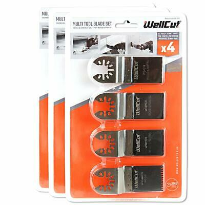 4 Piece Multi Tool Blade Set for TM3010, DTM51, DCS355, M18BMT Pack of 3