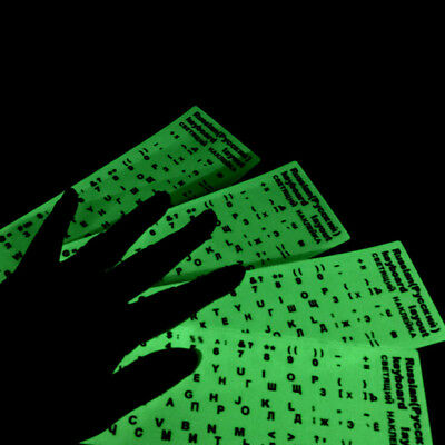 Different optional language waterproof fluorescent keyboard stickers Lm