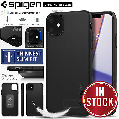 iPhone 11/Pro/Max Case Genuine SPIGEN Thin fit Air 0.7mm Hard SLIM Cover Apple