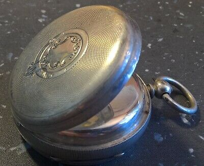 Gents Antique FUSEE Pocket Watch - HALLMARKED SOLID SILVER 1890! Improved Patent
