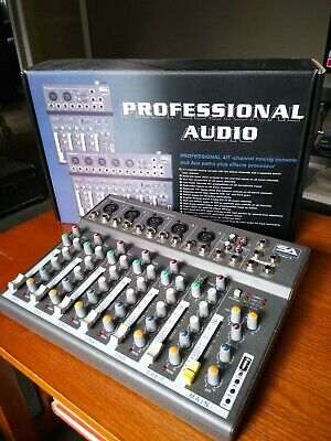 SA Professional 4/7 Channel Mixing Console with 3 Band EQ's and Delay Effects