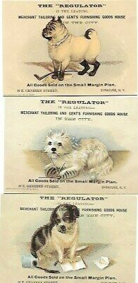 "3 Rare Antique Victorian Trade Cards. ""The Regulator"" Men's Clothing Syracuse,NY"