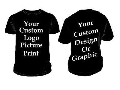 Custom Personalized T-Shirt Printing your Photo, Text, Logo, Front & Back