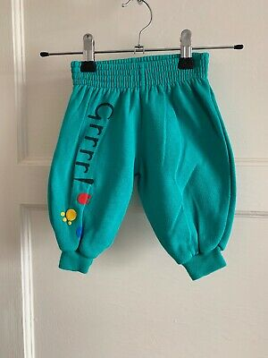 Baby Boys Boots Vintage Green Joggers Trousers 3-6 Months 1990