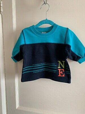 Baby Boys Next Vintage Jumper Top Long Sleeve  6-9 Months 1990s Retro