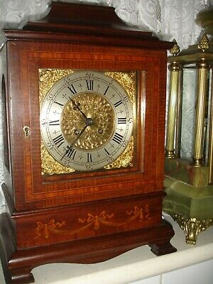 A Good Quality Antique  Inlaid Mantel Clock Circa 1900