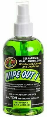 Zoo Med Wipe-Out 1 258ml Eco-friendly Terrarium Cleaner for Reptile Enclosures