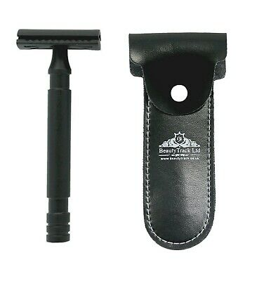 Beautytrack Butterfly Safety Razor Stainless Steel Smooth Shaving + 5 Blades Uk