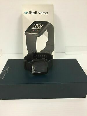 Fitbit Versa Fitness Smart Watch Boothtooth GPS WiFi Black Aluminum Watch Only