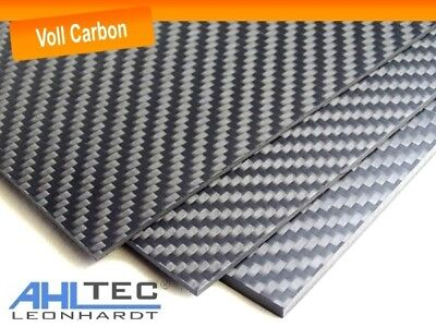 Carbon Board 3mm / Cfk Carbon Fiber / Twill Full Carbon / Size Selectable