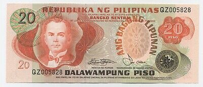 PHILIPPINES 20  PISO 1978 ND P 162 b Sign 9 LOT 2 NOTES  Uncirculated