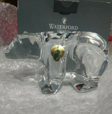 Waterford Crystal BEAR Sculpture Figurine Figure - NEW / BOX!