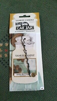 Yankee Candle Car Jar Air Freshener.New,Free P&P & Best offers.SHEA BUTTER