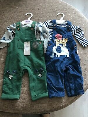 Brand New M&S BABY BOYS OUTFIT AGED 3-6 MONTHS 17lb 10oz 2 Beautiful Sets