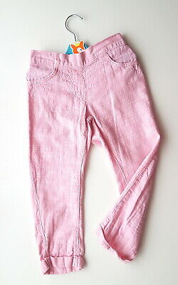 3-4 years Next linen pink girls trousers nice and stylish excellent condition