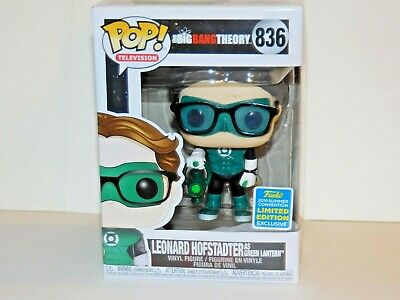 Funko Pop Limited Edition Big Bang Theory LEONARD  HOFSTADTER as Green Lantern
