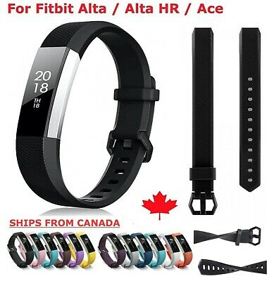 For Fitbit Alta / HR Ace Band Replacement Silicone Secure Strap Wristband S L