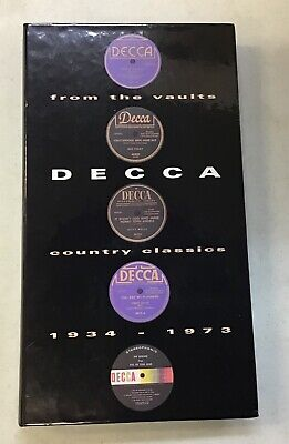Decca Country Classics 1934-1973 From The Vaults 3 Disc Used Music Cd Set W Book