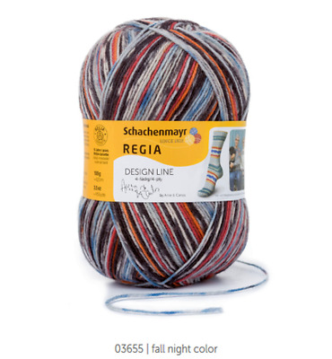 Regia 6 fädig 150g Design Line by Arne /& Carlos 03657 summer night color