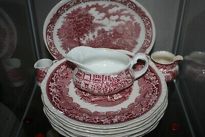 Antique Masons Vista Dinner Plates And Others