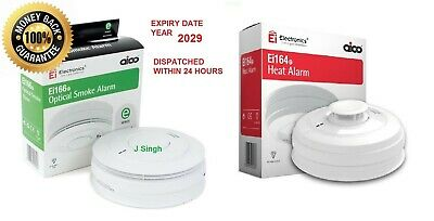 AICO 10 Year Rechargeable Battery HEAT ALARM Ei164e & SMOKE Ei166e Expiry  2029