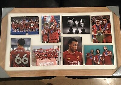Liverpool FC Wood Framed Champions League Winners 2019 Photo Montage New Salah