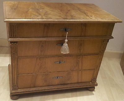 Antique Chest of 4xDrawers, large Solid Pine bedroom 19thC Victorian (German)
