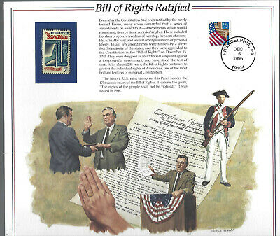 1312 Fdc Bill Of Rights Ratified 11 X 13 Philatelic Historical Poster