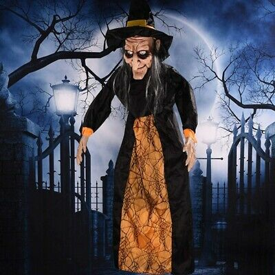 Spell Speaking Witch Haunted House Animated Halloween Life Size Props Decoration