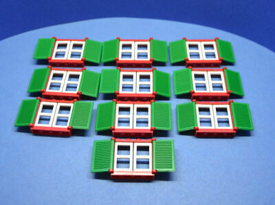 3861 3853 3854 Lego - GMT237 10 Doors and Windows in White and Red
