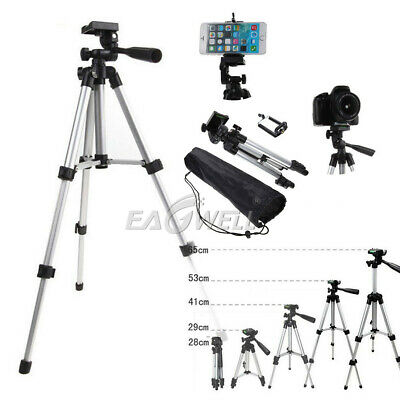 """1/4"""" Professional Adjustable Camera Tripod Stand Cell Phone Mount Holder+Bag New"""
