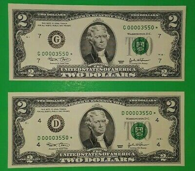 2003 $2 D* & G* Matching serial numbers