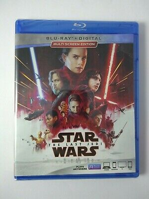 Star Wars The Last Jedi Tlj (Blu-Ray+Digital Hd) New Unopened