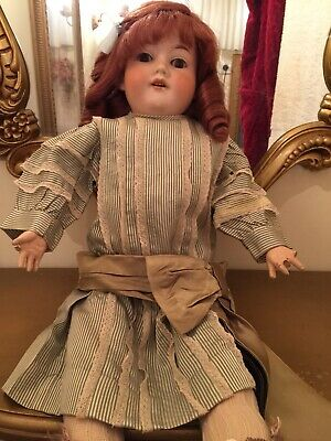 Armand Marseille Antique German Bisque Doll. 22 Inches Tall.