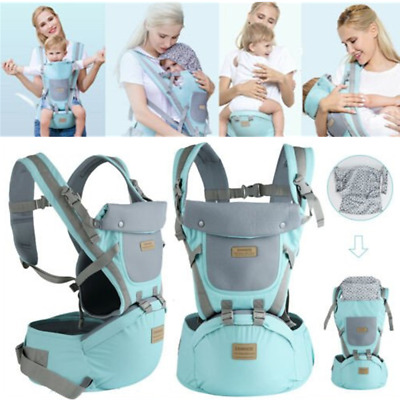 Ergonomic Baby Infant Carrier with Hip Seat Stool Adjustable Wrap Sling Backpack