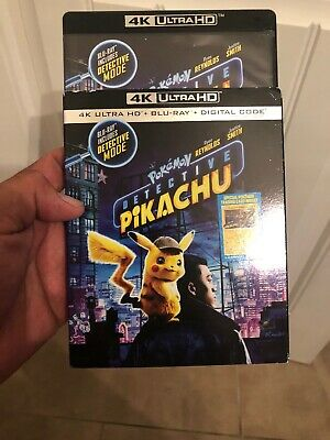 Pokemon Detective Pikachu 4K & Blue Ray never used only opened for digital code