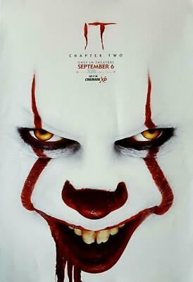 "IT CHAPTER 2 11.5""x17"" Original Promo Movie Poster MINT 2019 Cinemark Bill Hader"