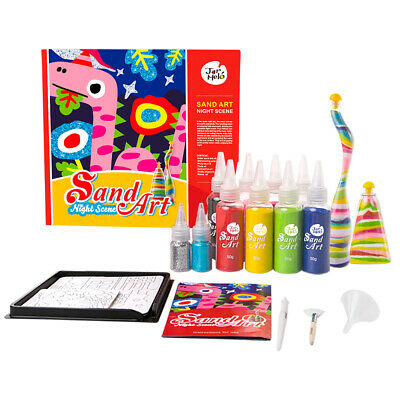 Coloured Sand Art Kit Night Scene 8 Tubes