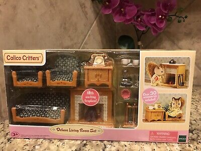 Calico Critters Deluxe Living Room Set **NEW IN BOX**