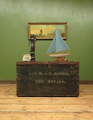 Pine Chest Coffee Table Trunk, Captain D.A,F Harris, The Royals