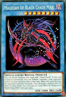 Magician of Black Chaos MAX - TN19-EN002 - Prismatic Secret Rare - NM Yugioh
