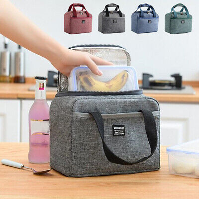 Cool Thermal Insulated Lunch Bag Oxford Picnic Pouch Food Storage Lunch Box AU
