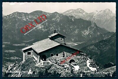 Cabin on top of a mountain Switzerland REAL PHOTO PICTURE RP <04