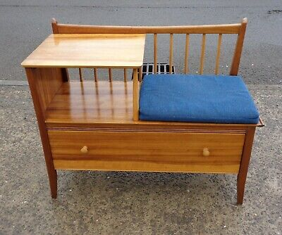 Vintage Chippy Heath Telephone Seat / Table / Hall Bench    Delivery Available