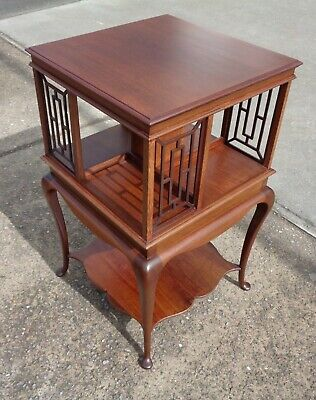 Antique Mahogany Revolving  Bookcase     Delivery Available